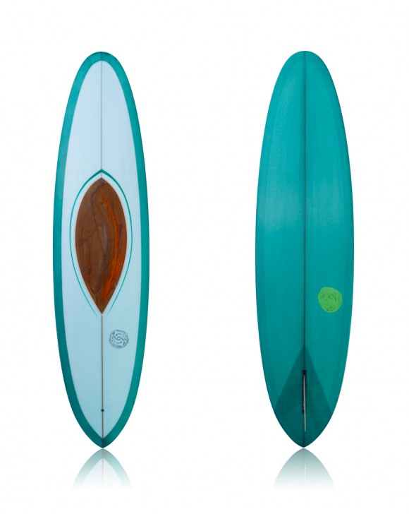 7'6 Light Blue & Green