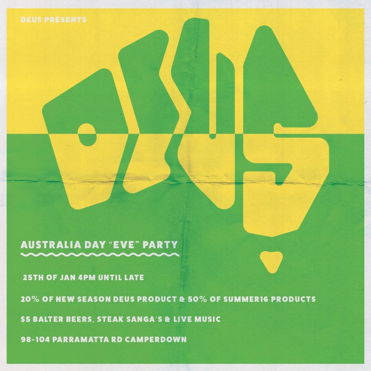 Deus Australia Day
